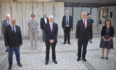 Mit Dr. Josef Schuster, Präsident des Zentralrats der Juden in Deutschland, haben sich die Mitglieder des Vorstands des Diözesanrats der Katholiken im Bistum Würzburg zum Gespräch getroffen.