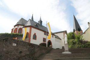 Wallfahrtskirche Mariä Himmelfahrt Hessenthal. In diesem Jahr sind aufgrund der Corona-Schutzmaßnahmen keine Wallfahrten möglich, manche Gemeinden bieten jedoch Alternativen an.