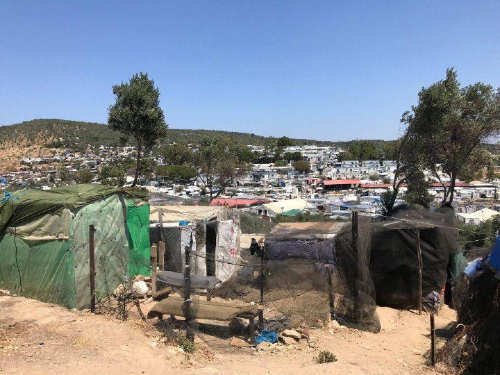 Das Lager Moria auf der Insel Lesbos vor dem Brand.