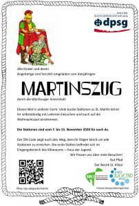 Der Martinsumzug des Pfadfinderbezirks Sankt Kilian findet dieses Jahr in anderer Form statt.