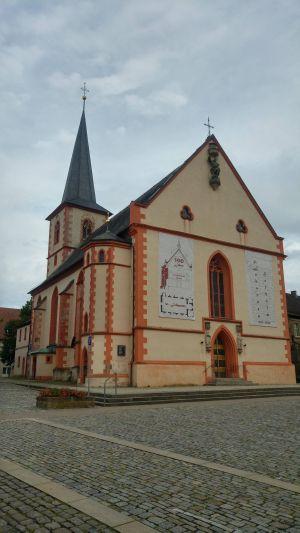 Die Stadtpfarrkirche von Hofheim (Landkreis Haßberge).