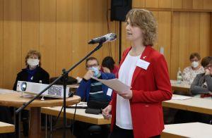 Vanessa Eisert, ehrenamtliche Diözesanvorsitzende des Bunds der Deutschen Katholischen Jugend (BDKJ), machte gleich zu Beginn der außerordentlichen Vollversammlung des Diözesanrats ihrem Unmut über die Informationspolitik der Bistumsleitung Luft.