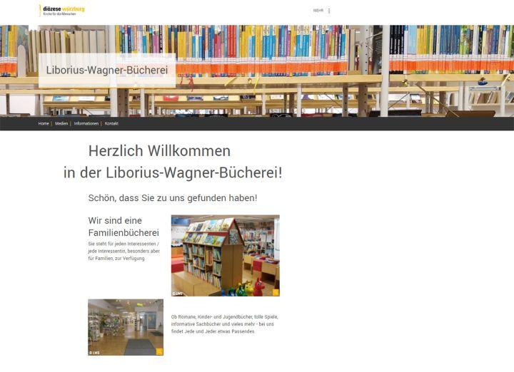 Die Würzburger Liborius-Wagner-Bücherei bietet den Nutzern die Möglichkeit, im Internet verfügbare Bücher zu recherchieren und diese dann zu einem vereinbarten Termin zur Ausleihe abzuholen.