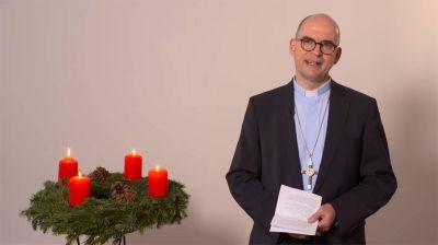 Einen Weihnachtsgruß via YouTube schickt Bischof Dr. Franz Jung den Menschen in der JVA.