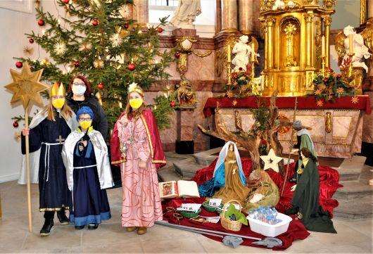 Für die Pfarreiengemeinschaft St. Raphael (Dekanat Schweinfurt Süd) zeigten sich die Unterspiesheimer Sternsinger im Online-Gottesdienst.