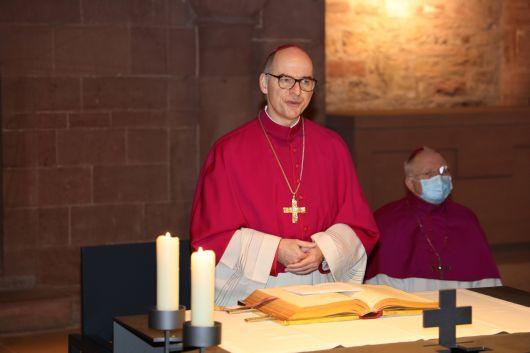 Bischof Dr. Franz Jung betonte beim Auslegen der alttestamentlichen Lesung, wie wichtig erfahrene Berater sind.