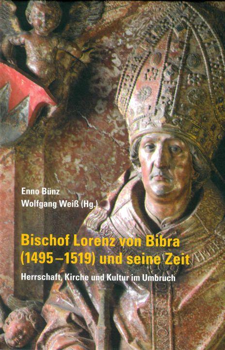 """Mit der Zeit von Bischof Lorenz von Bibra beschäftigt sich Band 79 der Reihe """"Quellen und Forschungen zur Geschichte des Bistums und Hochstifts Würzburg""""  ausführlich."""