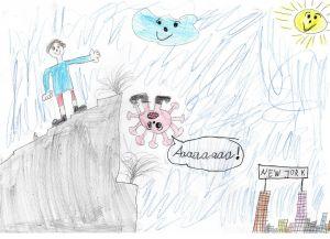 """Religionslehrerinnen schreiben ihren Grundschülern Mutmachbriefe: Emil hat ganz klare Vorstellungen, was er tut, wenn Corona """"vorbei"""" sein wird – dann möchte der Grundschüler nach New York fliegen."""