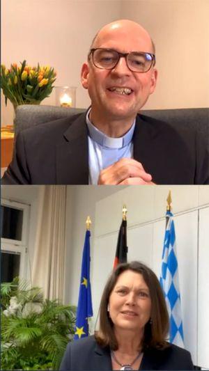 Bischof Dr. Franz Jung und Landtagspräsidentin Ilsa Aigner unterhielten sich am Montag, 1. März, via Instagram.