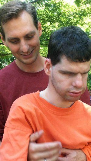 Die Brüder Alexander (hinten) und Stefan Simon haben ein enges Verhältnis.