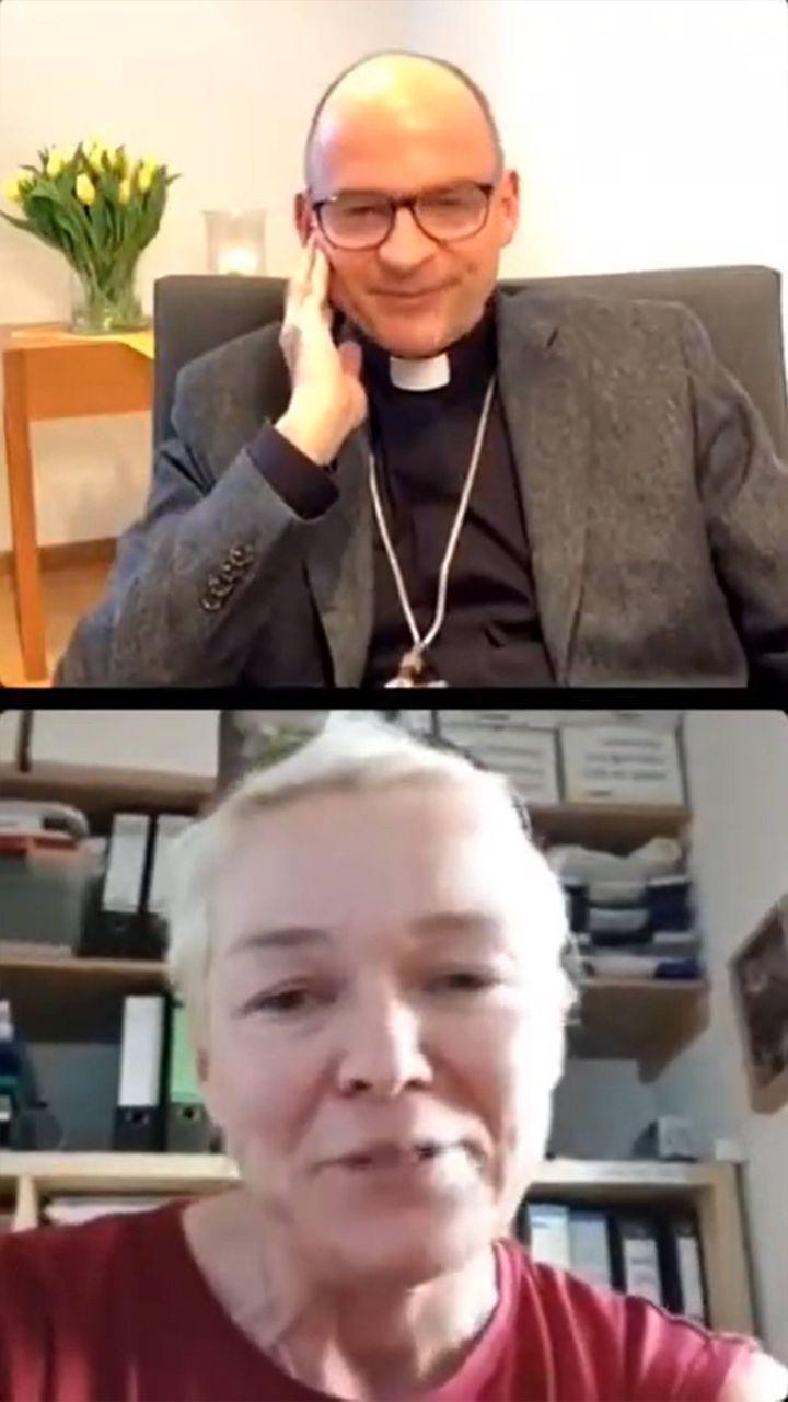 Über die Herausforderungen für Familien in Coronazeiten sprach Bischof Dr. Franz Jung am Dienstag, 30. März, mit Michaela Landauer aus Prosselsheim (Landkreis Würzburg).