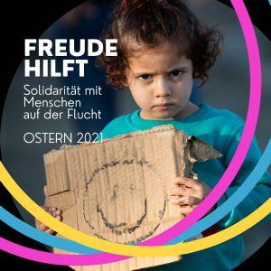 """Die Netzgemeinde da_zwischen und der Musiker Cris Cosmo rufen mit einer Gemeinschaftsaktion unter dem Motto """"Freude hilft!"""" zum Mitsingen und Spenden für Menschen in Flüchtlingslagern auf."""