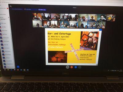 """Unter der Überschrift """"Ostern – trotzdem"""" haben rund 45 Kinder, Jugendliche und Erwachsene digital gemeinsam die Kar- und Ostertage gefeiert."""