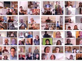 Das Halleluja von Händel – digital auf dem Bildschirm zusammengeführt.